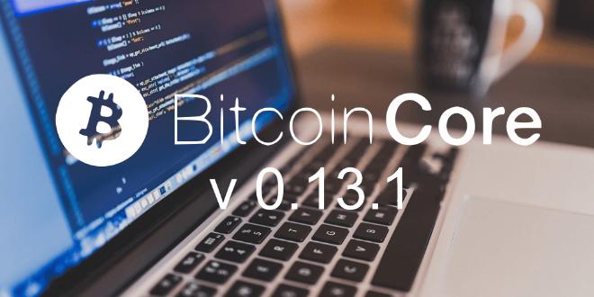 Segregated Witness update no Bitcoin Core 0.13.1