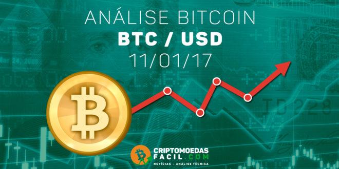 Análise Técnica Bitcoin – BTC/USD – 11/01/2017