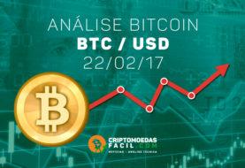 Análise Técnica Bitcoin – BTC/USD – 22/02/2017