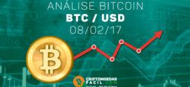 Análise Técnica Bitcoin – BTC/USD – 08/02/2017