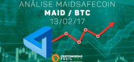 Análise Técnica MaidSafeCoin – MAID/BTC – 13/02/2017