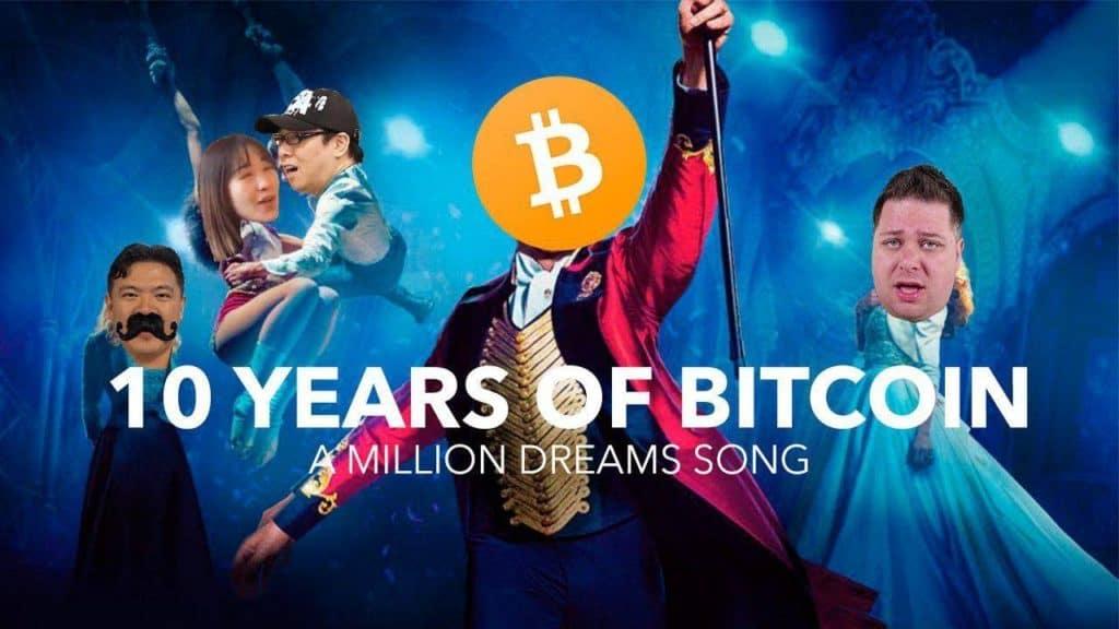 Celebridades do universo cripto gravam canção em homenagem aos 10 anos do Bitcoin