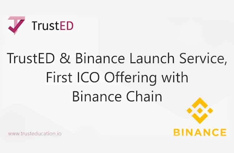TrustED, faz parceria com a Binance para lançar ICO na Binance chain