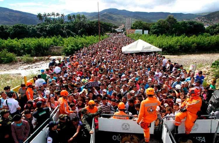Exchange pretende ajudar refugiados venezuelanos na fronteira do país com a Colômbia