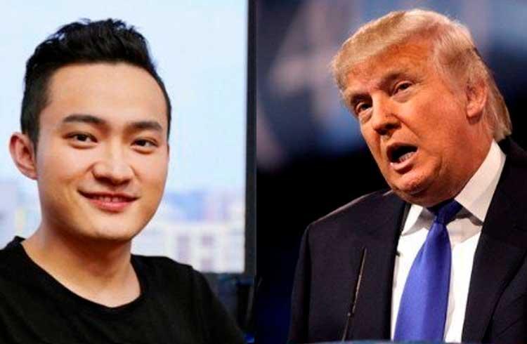 Justin Sun convida Donald Trump para almoço com Warren Buffet e Charlie Lee