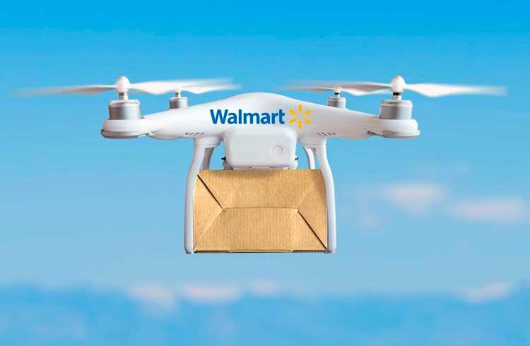 Walmart solicita patente para sistema de comunicação por drones com blockchain