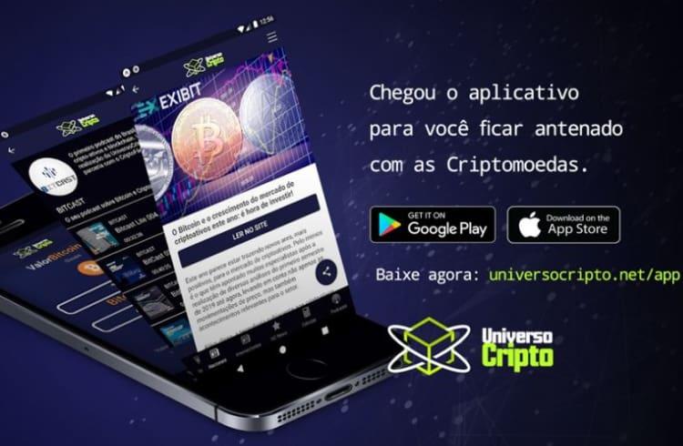 Universo Cripto lança aplicativo de notícias para Android e iOS