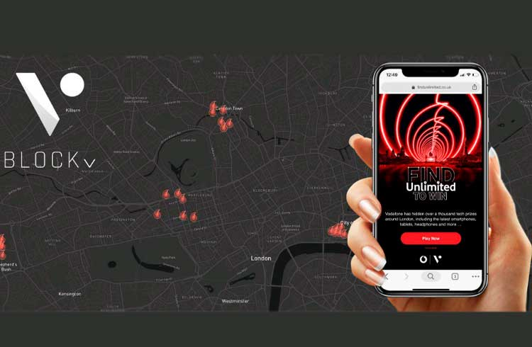 A tecnologia NFT da BlockV possibilita oferta com realidade aumentada para milhões de pessoas em Londres