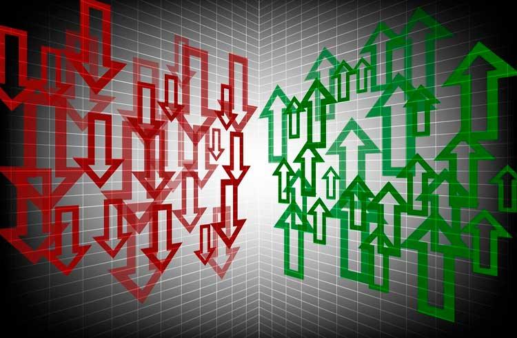 Mercado de criptoativos em baixa neste início de semana