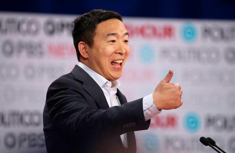 Candidato à presidência dos EUA Andrew Yang fala sobre regulação do mercado de criptomoedas