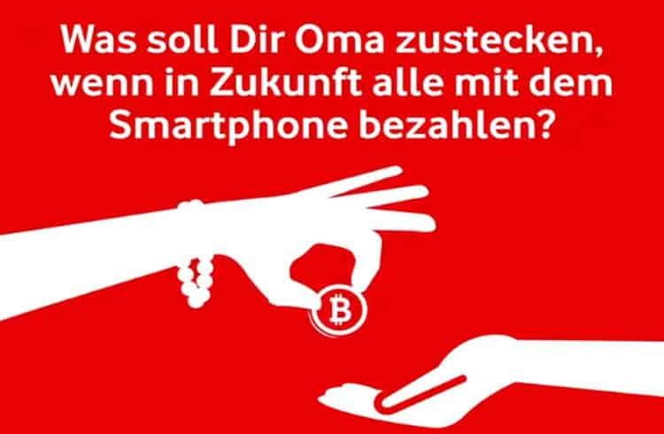 Vodafone faz anúncio com Bitcoin na Alemanha