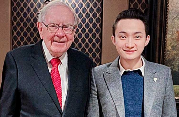 Justin Sun, da Tron, finalmente janta com Warren Buffett