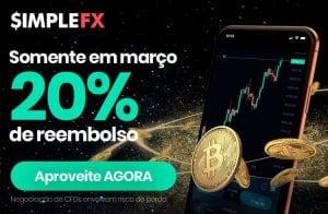 SimpleFX cashback de US$500 em março; Negocie com um spread 20% menor