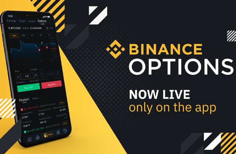 Binance lança negociação de opções de Bitcoin em seu aplicativo