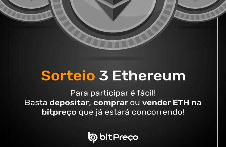 BitPreço anuncia sorteio de 3 Ethers para quem usar a plataforma
