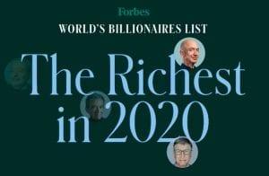 Nova lista de bilionários da Forbes inclui quatro membros da indústria de criptomoedas