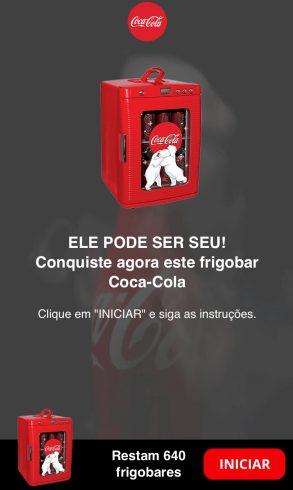 frigobar de Coca-Cola