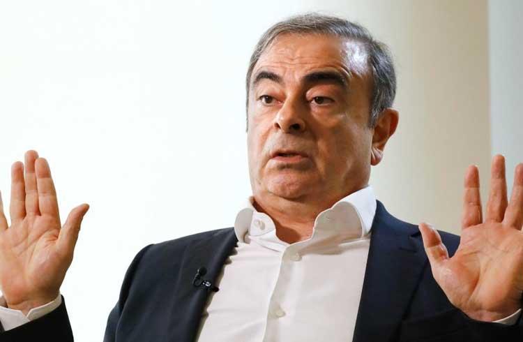 Fuga de ex-chefe da Nissan custou R$ 2,5 milhões em criptomoedas