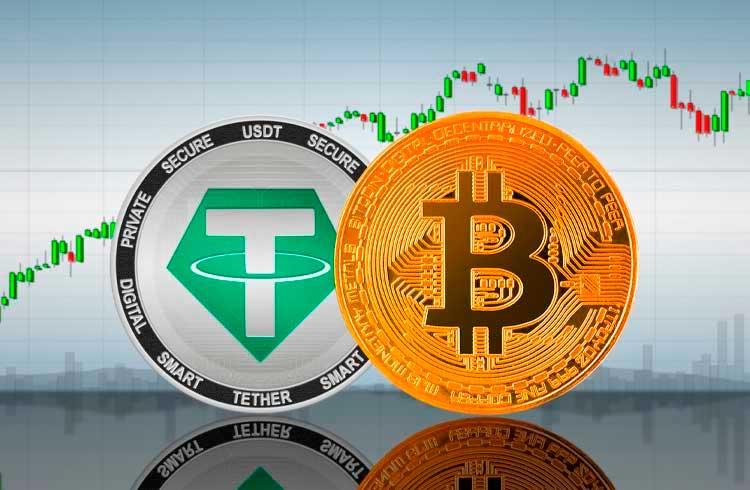 Bitcoin sobe ou desce? Tether emite mais de R$ 1,5 bilhão em minutos