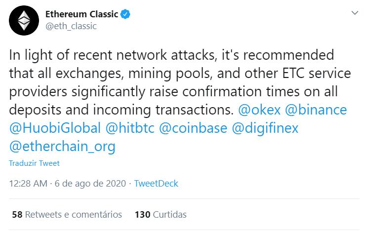 Ethereum Classic sofre dois ataques em poucos dias