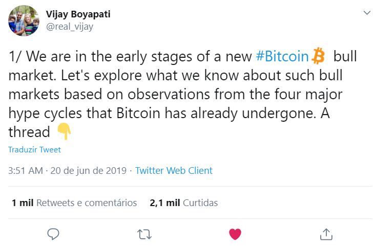 Vijay Boyapati fala sobre o bull run do Bitcoin