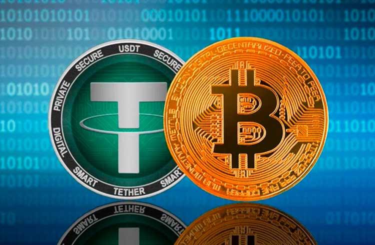 Tether supera Bitcoin em volume semanal de transações pela primeira vez