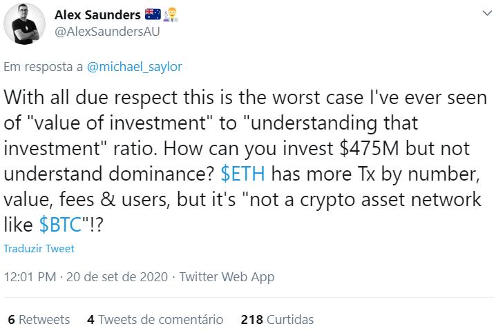 Crítica à taxa de dominância real do Bitcoin