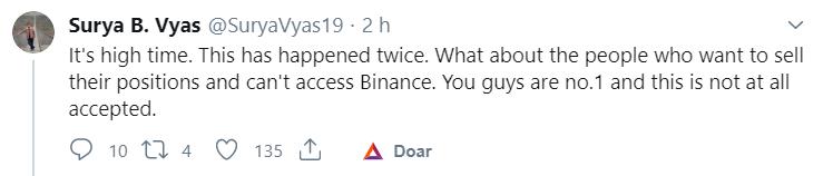 Investidor critica a Binance
