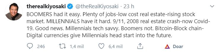 Robert Kiyosaki sobre a diferença entre as gerações
