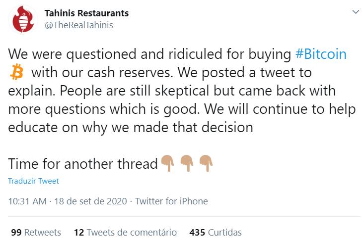 Tahinis responde aos críticos