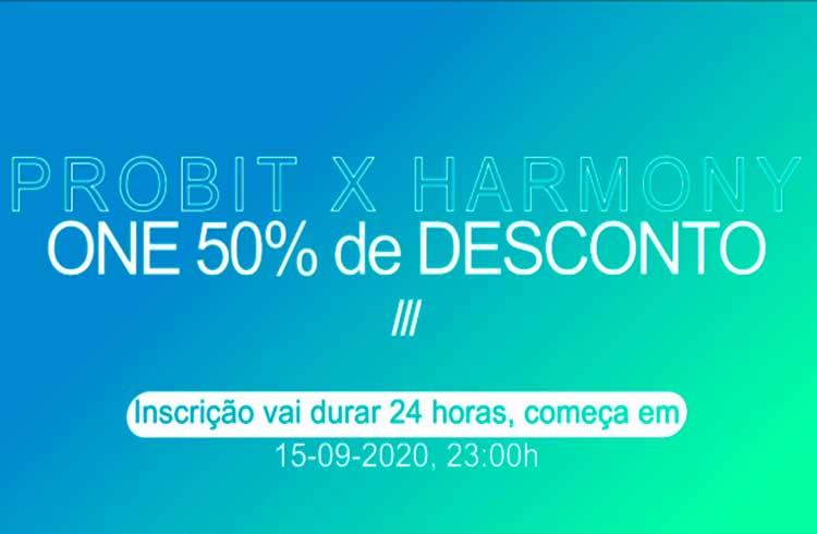 Venda da moeda Harmony na Probit Exclusive, participe do Rol de Traders experientes com lucro certo de 50%