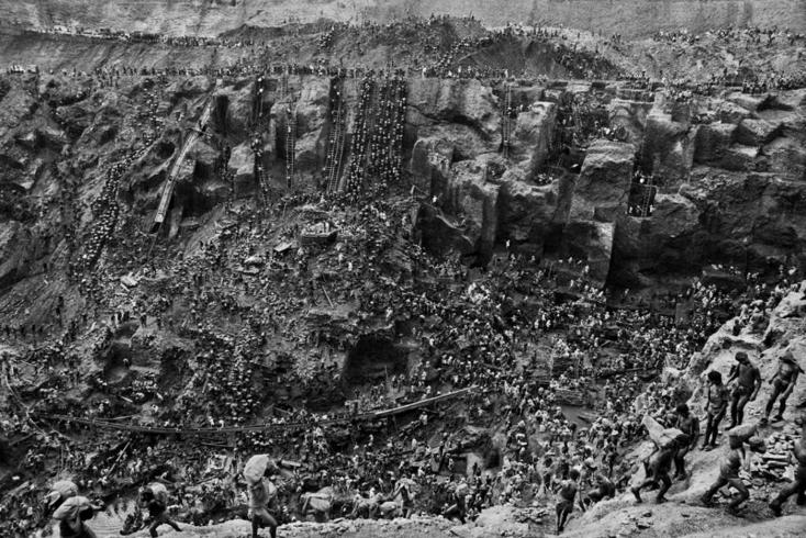 Foto do garimpo do Ouro em Serra Pelada