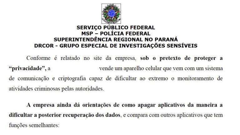 Processo da Polícia Federal
