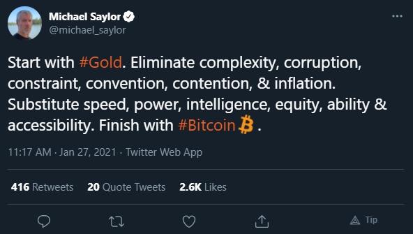 Michael Saylor opina sobre Bitcoin ser melhor que ouro