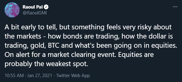 Raoul Pal fala sobre mercado arriscado