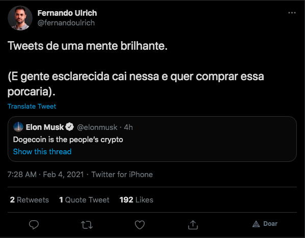 Economista critica tuíte de Musk sobre DOGE