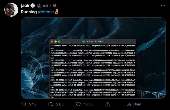 Fundador do Twitter divulga seu nó em operação