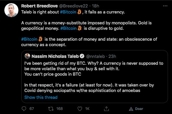 Breedlove traz um conceito diferente sobre o que é o Bitcoin