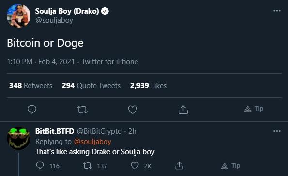 Soulja Boy recebe resposta atravessada
