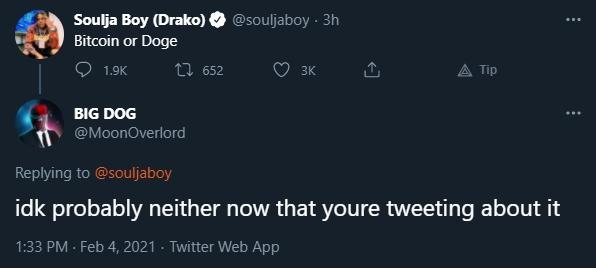 Outro trader responde Soulja Boy