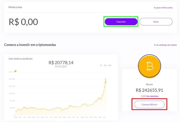 Depositando reais e comprando Bitcoin na Ripio