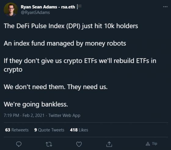 Ryan Sean fala sobre índices DeFi e ETF