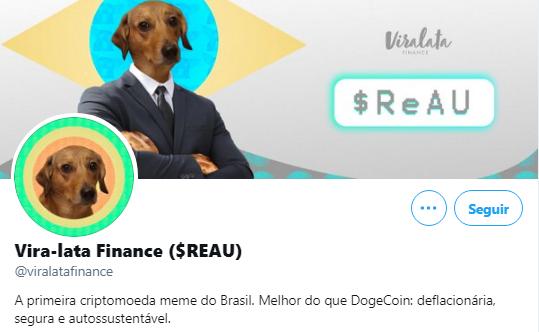 Vira-Lata Finance (REAU) é a nova criptomoeda meme brasileira. Fonte: Vira-lata Finance/Twitter