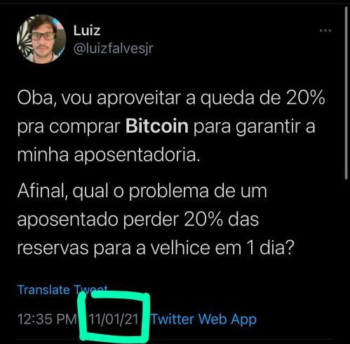 Gestor do fundo Versa lança crítica durante correção do Bitcoin. Fonte: Twitter