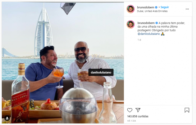 Foto: Brunodobem/Instagram