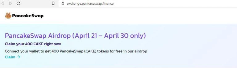PancakeSwap é alvo de ataque phishing
