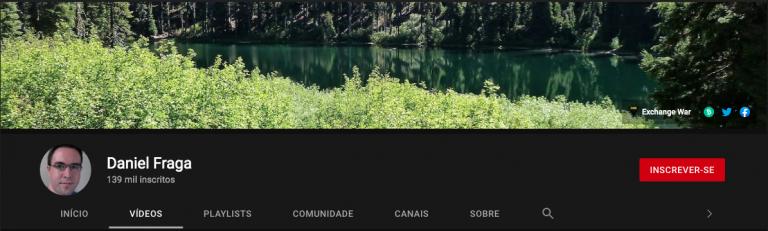 Canal de Fraga registra primeira movimentação. Fonte: Daniel Fraga/YouTube.