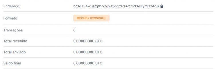 Vaquinha de Bitcoin não recebeu nenhuma contribuição