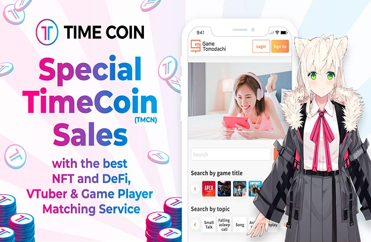 Vendas especiais do token TimeCoin (TMCN) com o melhor NFT e DeFi, VTuber e Streamers