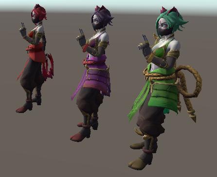 Herói Shadow em suas três versões